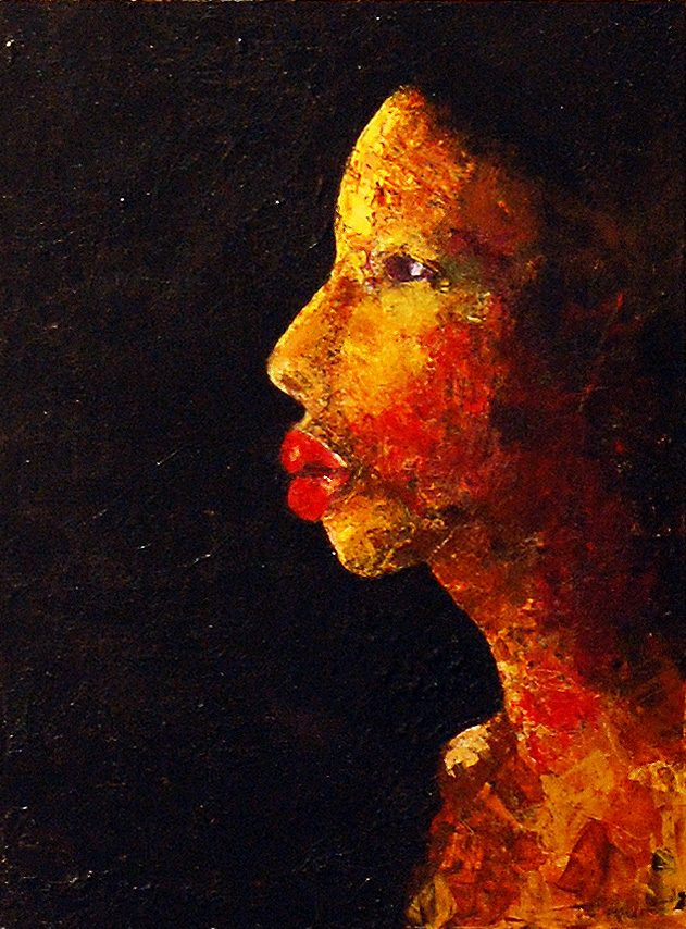 "Adrian Hardin, Sunshine in her Face, Acrylic on canvas, 18"" x 24"", 2020 Peoples Choice Award Winner"